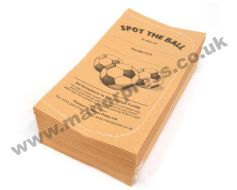 SPOT THE BALL TICKETS - 1 PACKET